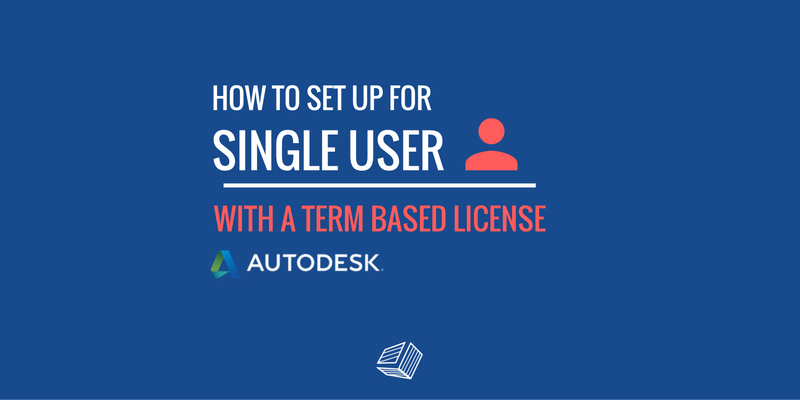 set up single user term based license 2