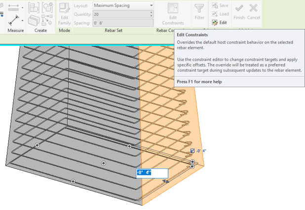 In-canvas graphical constraint overrides in Revit 2018