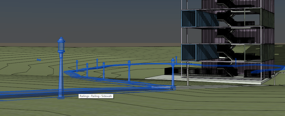 Hosting a railing to topography in Revit 2018