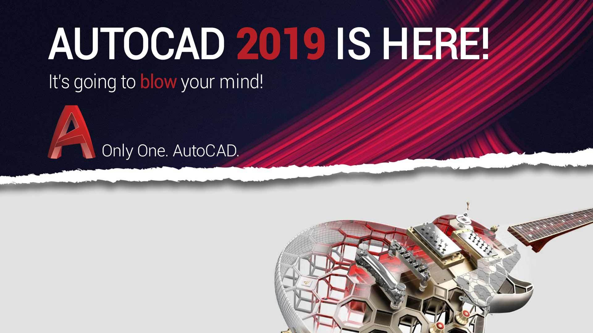 AutoCAD 2019 - Only One. AutoCAD.