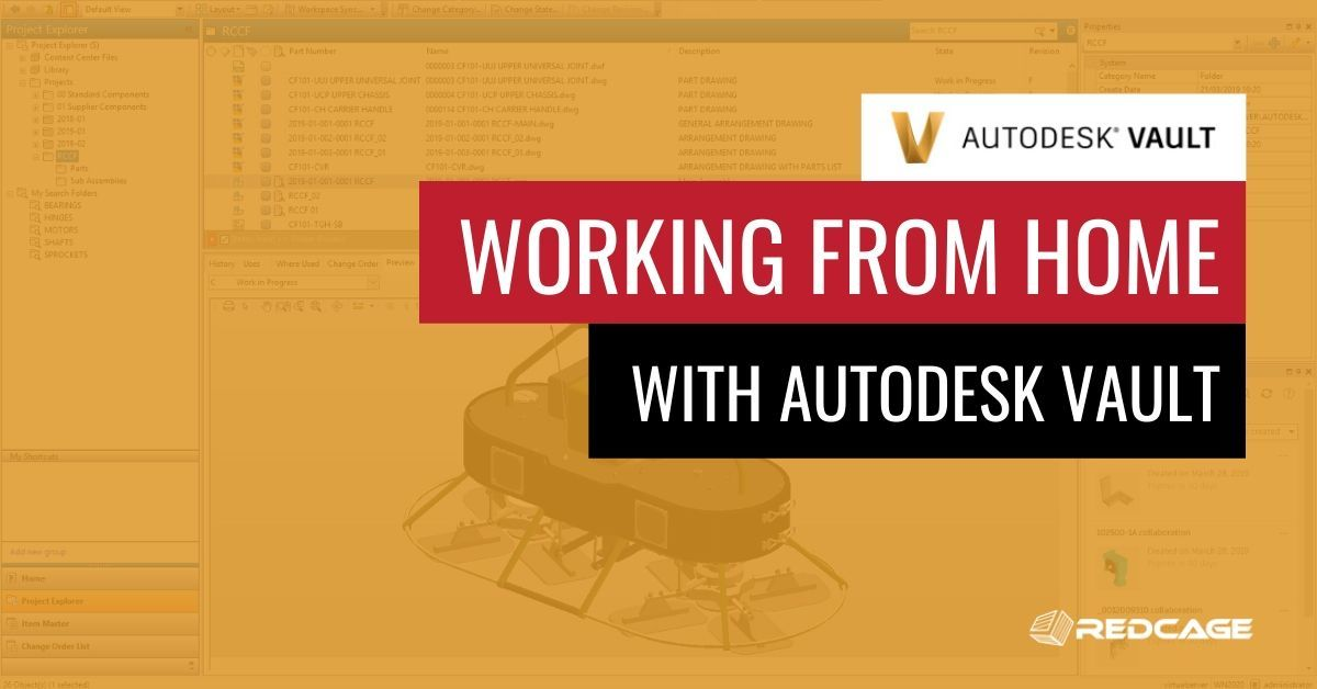 Working from Home with Autodesk Vault
